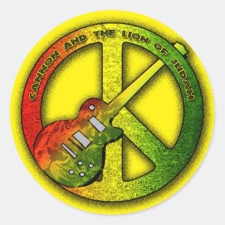 Lion de signe de paix de Judah Sticker Rond