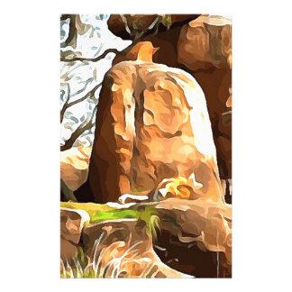 Lion de sommeil de safari papeterie