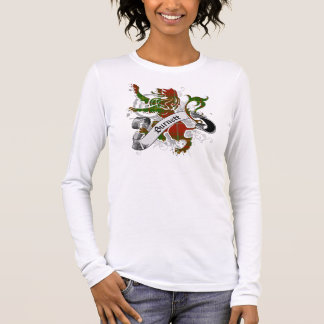 Lion de tartan de Burnett T-shirt À Manches Longues