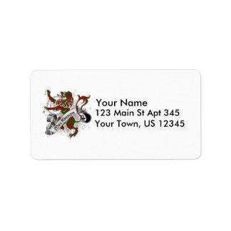 Lion de tartan de MacKinnon Étiquette D'adresse