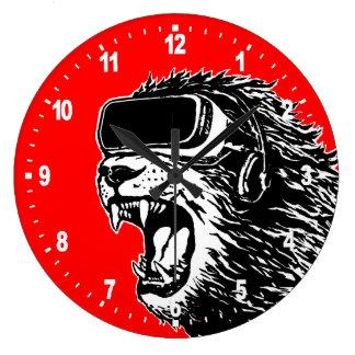 Lion de VR Grande Horloge Ronde
