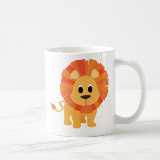 Lion doux mug blanc