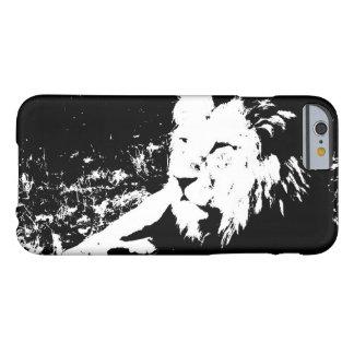 Lion en noir et blanc coque barely there iPhone 6