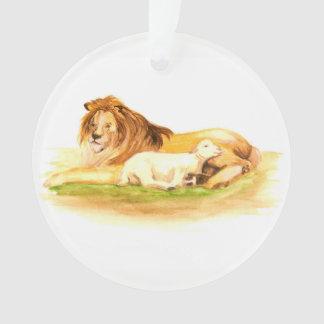 Lion et agneau d'arbre de Jesse d'avènement