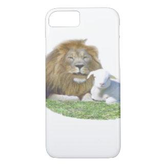 Lion et l'art de chrétien d'agneau coque iPhone 7