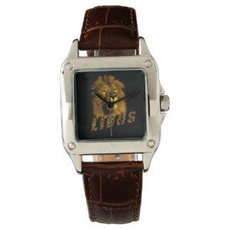 Lion et logo de lion, montre de cuir de dames montres bracelet
