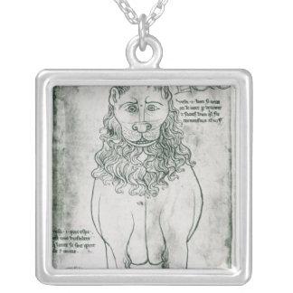 Lion et porc-épic de Mme Fr 19093 fol.24v Pendentif Carré