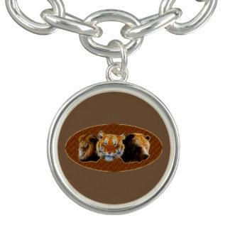 Lion et tigre et ours bracelets avec breloques
