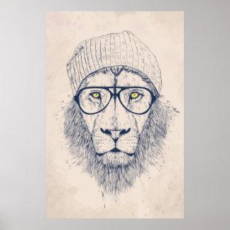 Lion frais affiches