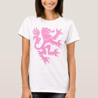 Lion héraldique 01 - rose t-shirt