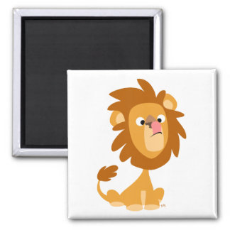 Lion idiot ! aimant de bande dessinée