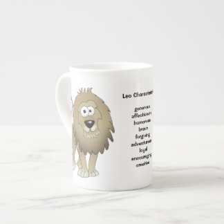 Lion la bande dessinée de lion sur une tasse