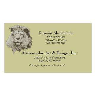 Lion masculin carte de visite standard