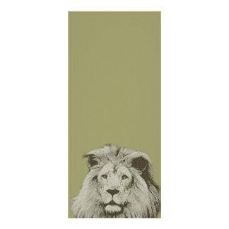 Lion masculin modèle de double carte