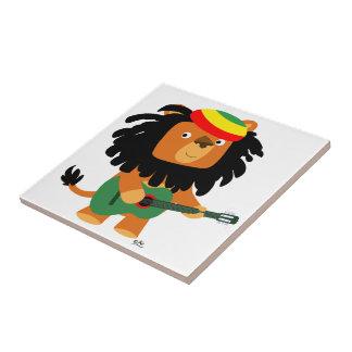 Lion mignon de bande dessinée de tuile de Zion Petit Carreau Carré