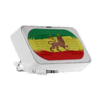 Lion mignon de drapeau de Rastafari de reggae de Haut-parleur De Voyage