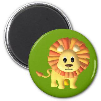 Lion mignon de Lil Magnet Rond 8 Cm