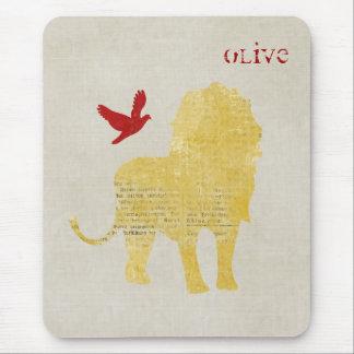 Lion Mousepad personnalisé par silhouette d or Tapis De Souris