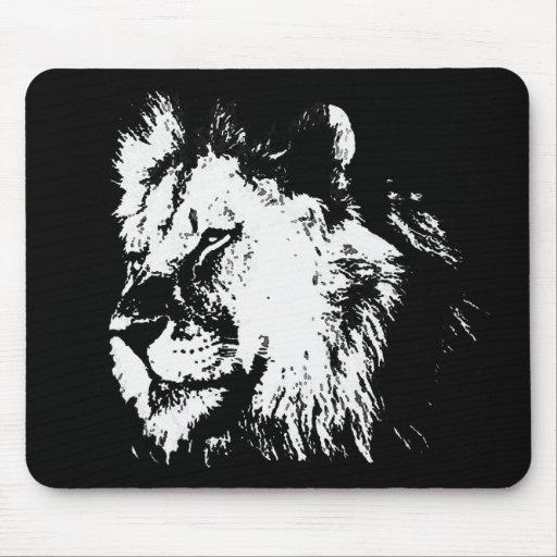 Lion noir et blanc tapis de souris zazzle - Tapis geometrique noir et blanc ...