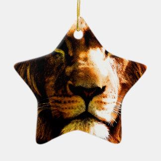 Lion Ornement Étoile En Céramique
