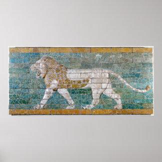 Lion représentant Ishtar Posters