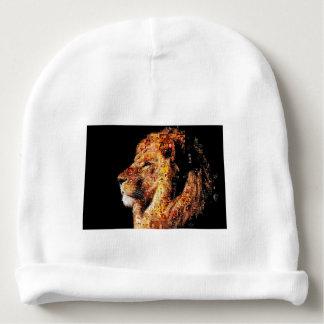 Lion sauvage - collage de lion - mosaïque de lion bonnet de bébé