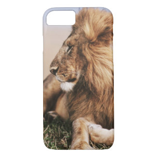 Lion se reposant dans l'herbe coque iPhone 7