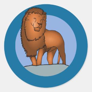 Lion Sticker Rond