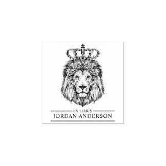 Lion tiré par la main avec la couronne   Libris ex