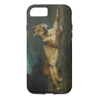 Lionne reposant, c.1855 (huile sur le panneau) coque iPhone 7