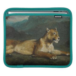 Lionne reposant, c.1855 (huile sur le panneau) housses iPad