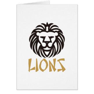 Lions Carte De Vœux