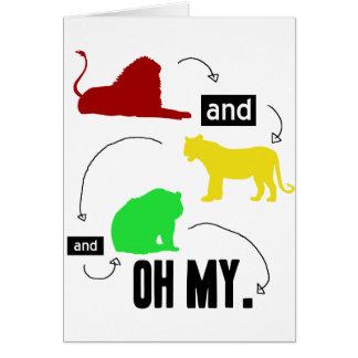 lions et tigres et ours OH MA carte