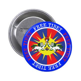 Lions libres de neige du Thibet et slogan de Badge Avec Épingle