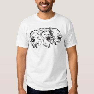 Lions sur des les deux côté t-shirts