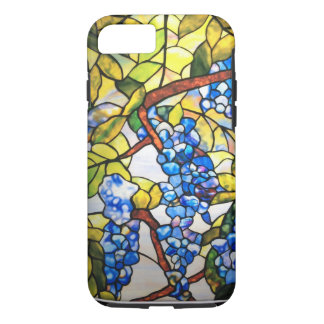 L'iPhone 7 de motif en verre souillé enferment dur Coque iPhone 7