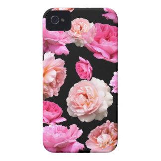L'iPhone floral vintage romantique 4 mat Coque Case-Mate iPhone 4