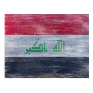 L'Irak a affligé le drapeau Carte Postale