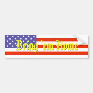 l'Irak, leur apportent la maison, drapeau américai Autocollant De Voiture