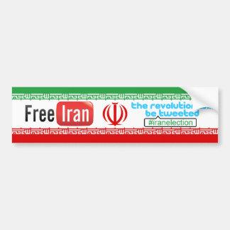 L'Iran libre - la révolution a gazouillé adhésif p Autocollant De Voiture