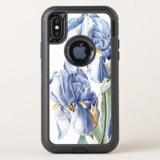 L'iris bleu fleurit la caisse de la galaxie S8 de