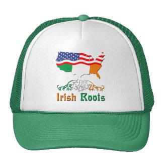 L'Irlandais américain enracine le chapeau Casquettes De Camionneur