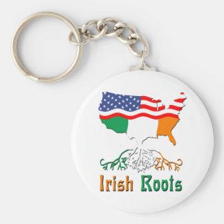 L'Irlandais américain enracine le porte - clé Porte-clé Rond