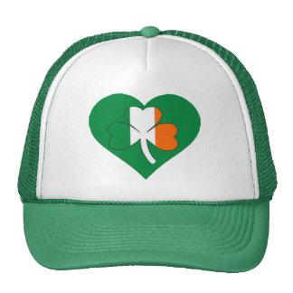 l'Irlandais d'amour colore le chapeau du jour de Casquette Trucker