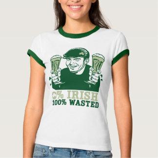 L'Irlandais de 0%, 100% a gaspillé le T-shirt