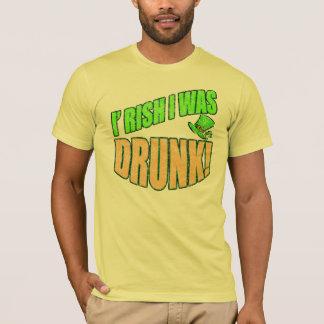 L'Irlandais I était T-shirt ivre