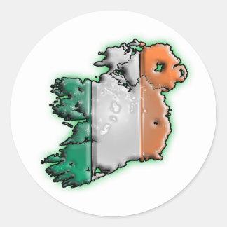 L'Irlande Sticker Rond