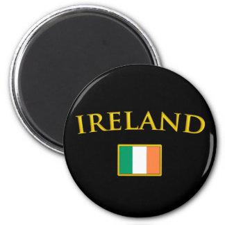 L'Irlande d'or Magnet Rond 8 Cm