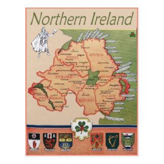 L'Irlande du Nord rétro Carte Postale