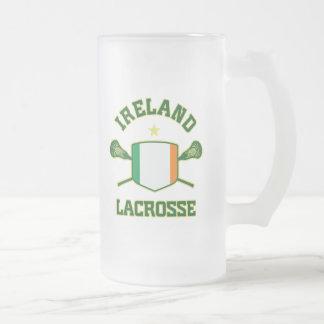 L'Irlande Frosted Glass Beer Mug